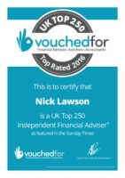 UK 250 Top Rated Independent Financial Adviser