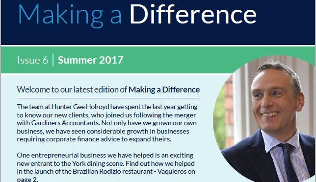 Making a Difference News Summer 2017. Accountancy and Wealth Management News and Updates
