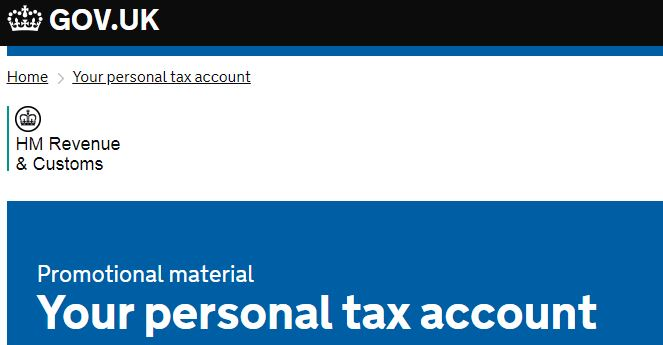 Personal Tax account