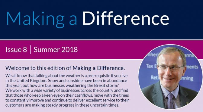 Making a Difference Summer 2018